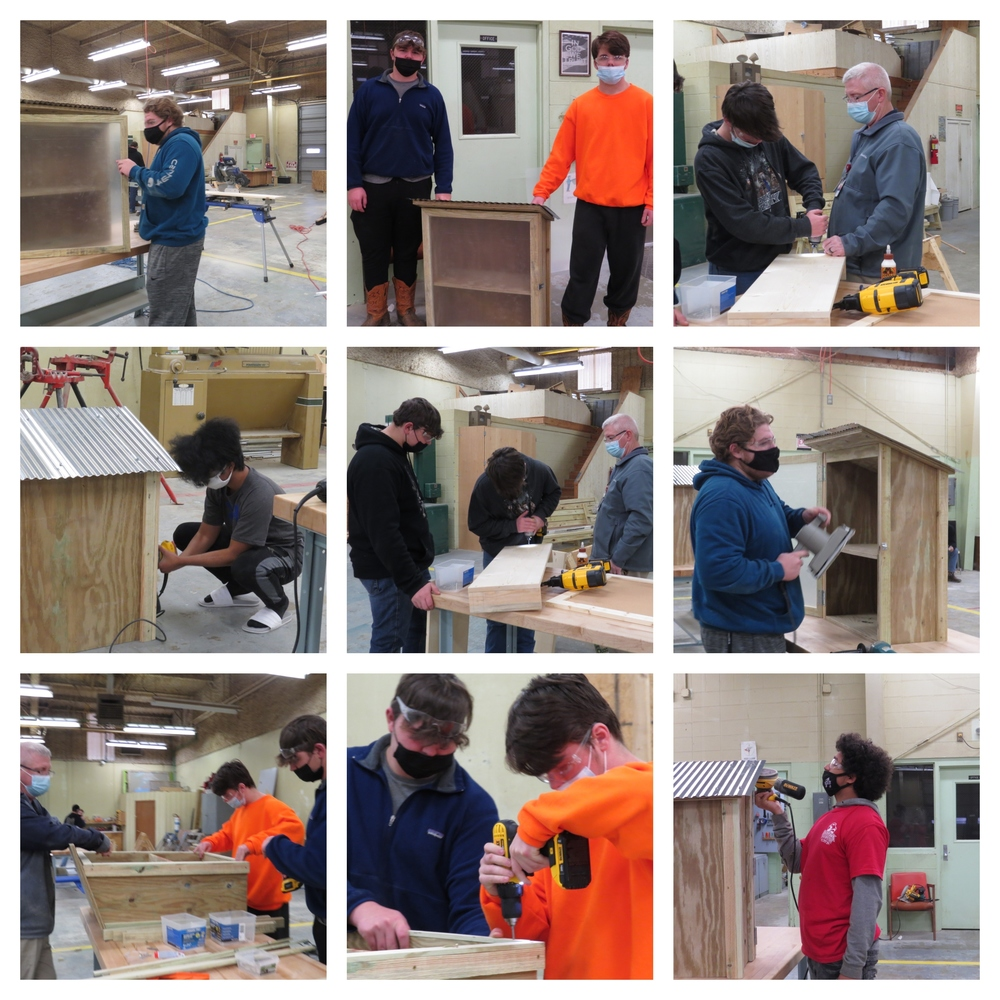 Mr. Black's Construction Class Builds Blessing Boxes