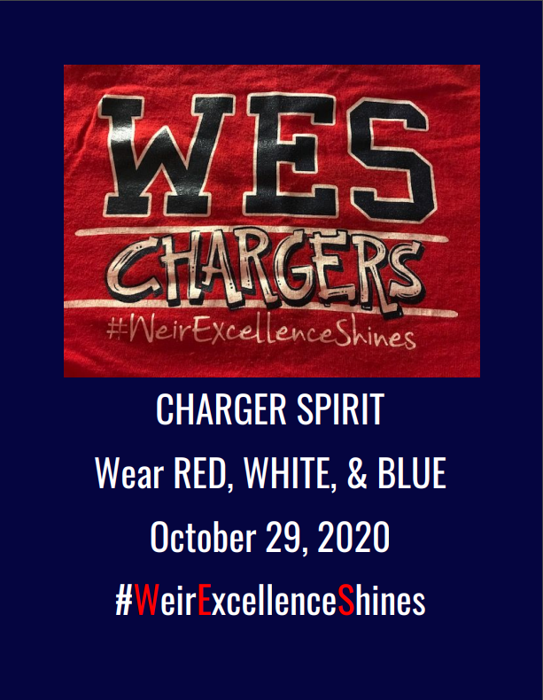 WES Charger Red, White, and Blue