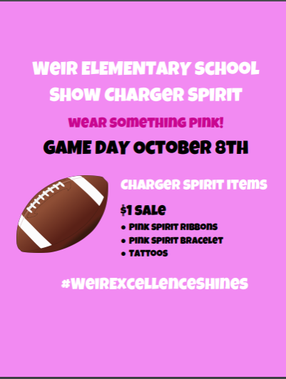 Wear Pink and Show Charger Spirit October 8th