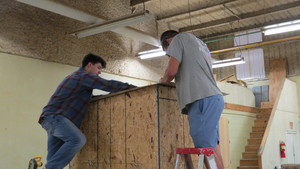 Construction Students Build Shooting Houses