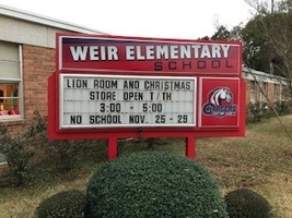 Weir Elementary School Christmas Store and Lions Room