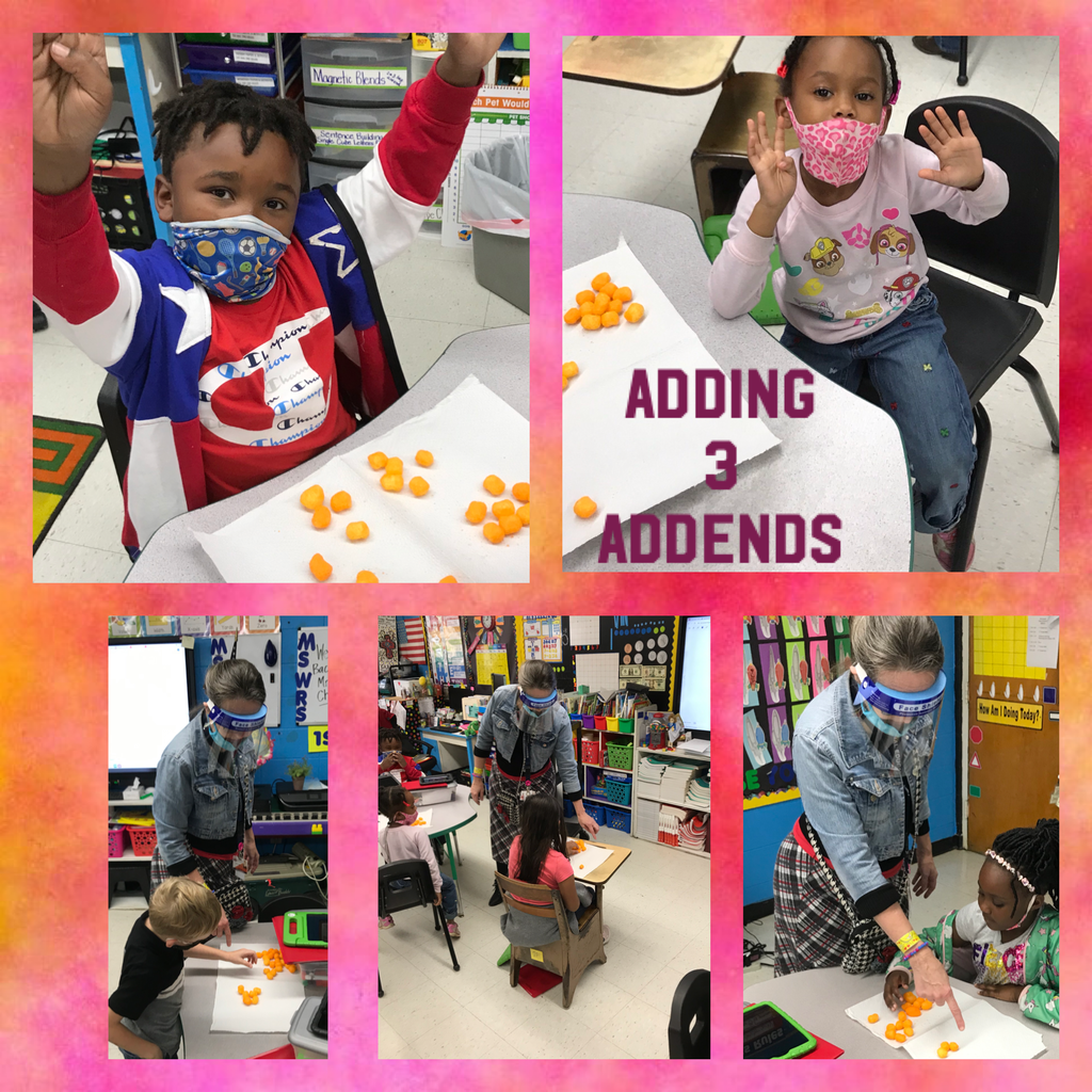 WES 1st Grades adds 3 addends
