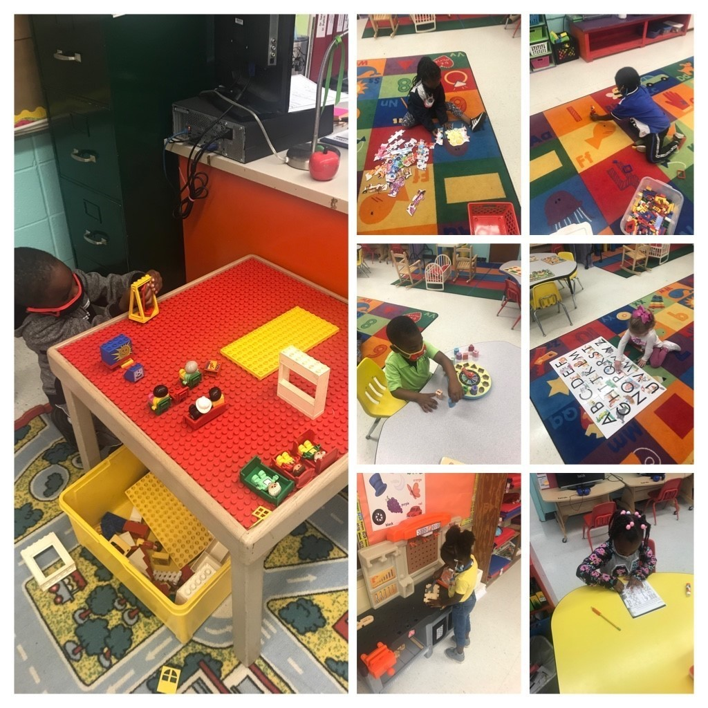 The WES Pre-K students had a productive week at centers!