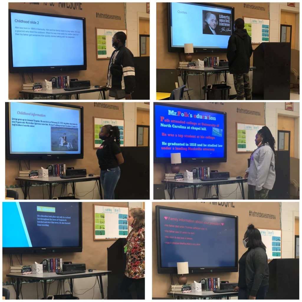 6th Grade Presidential Presentations