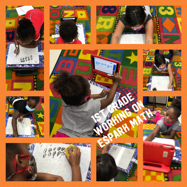 1st grade students are working on their eSpark Math journey.