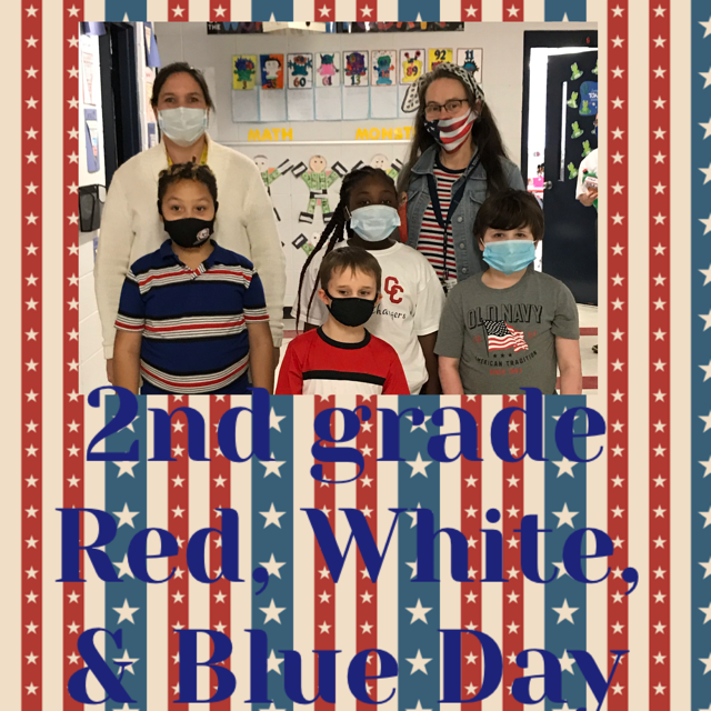 2nd Grade Red, White and Blue