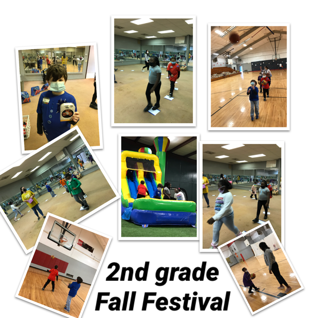 WES 2nd Grade enjoying Fall Festival.