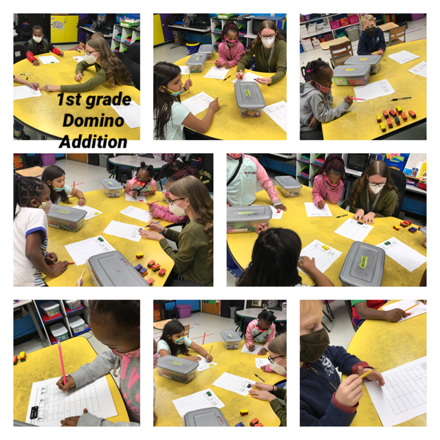 WES first-grade students worked on their addition fluency using dominos.