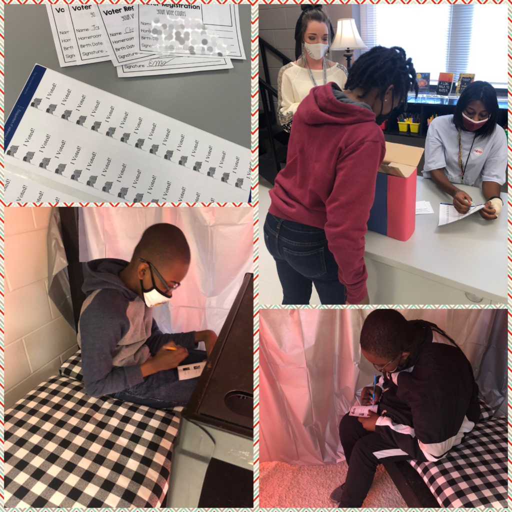 "Mrs. McKnight's 5th and 6th grade students had an awesome time being able to ""vote"" in their Social Studies class this week!"
