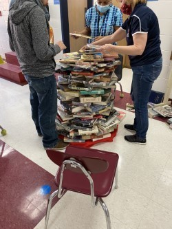 Our WES team worked together to make a book tree. We all had a good time working together.