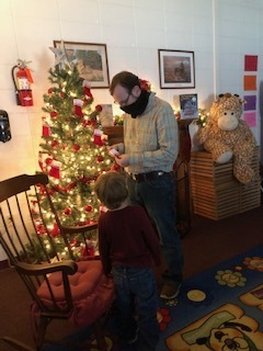 Mr. Stoney Armstrong is always kept busy helping pre-k students at Weir Elementary School.