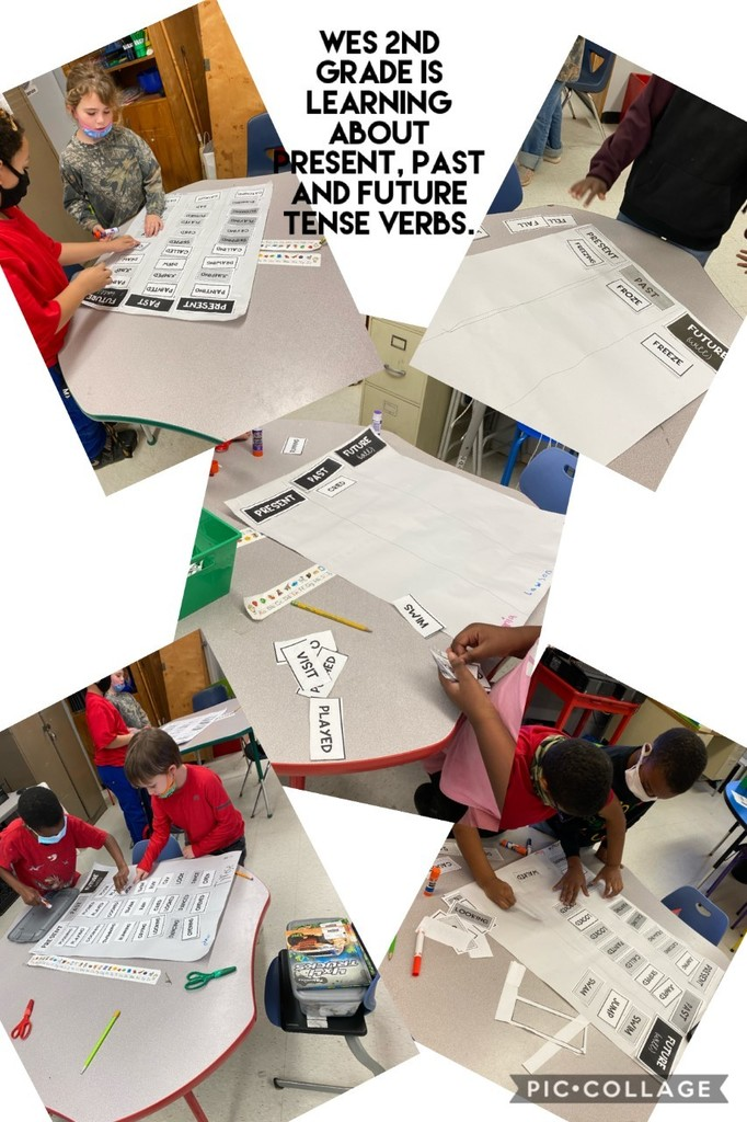 WES 2nd Grade is learning about Present, Past, and Future Tense Verbs.