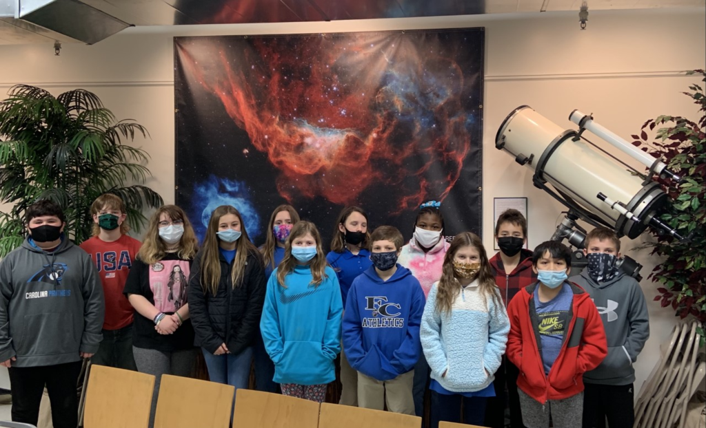 5th graders from FCE visit the Rainwater Observatory to learn more about the stars and our solar system.