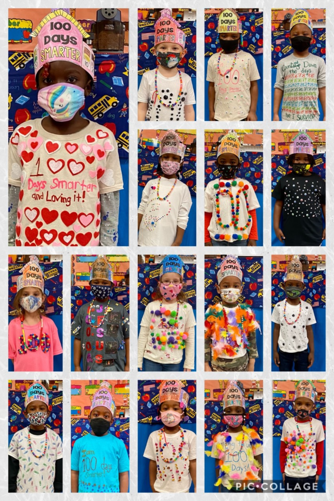 WES Kindergarten class had a great time celebrating the 100th day of school.
