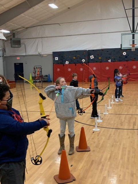 Coach Young introduced archery to 4th-6th graders at WES today.