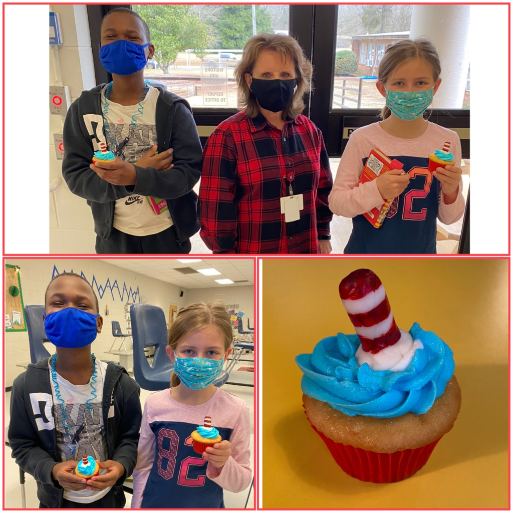 "Students and staff at WES enjoyed cupcakes from our PTO on Tuesday in celebration of ""Dr. Seuss Week""!"