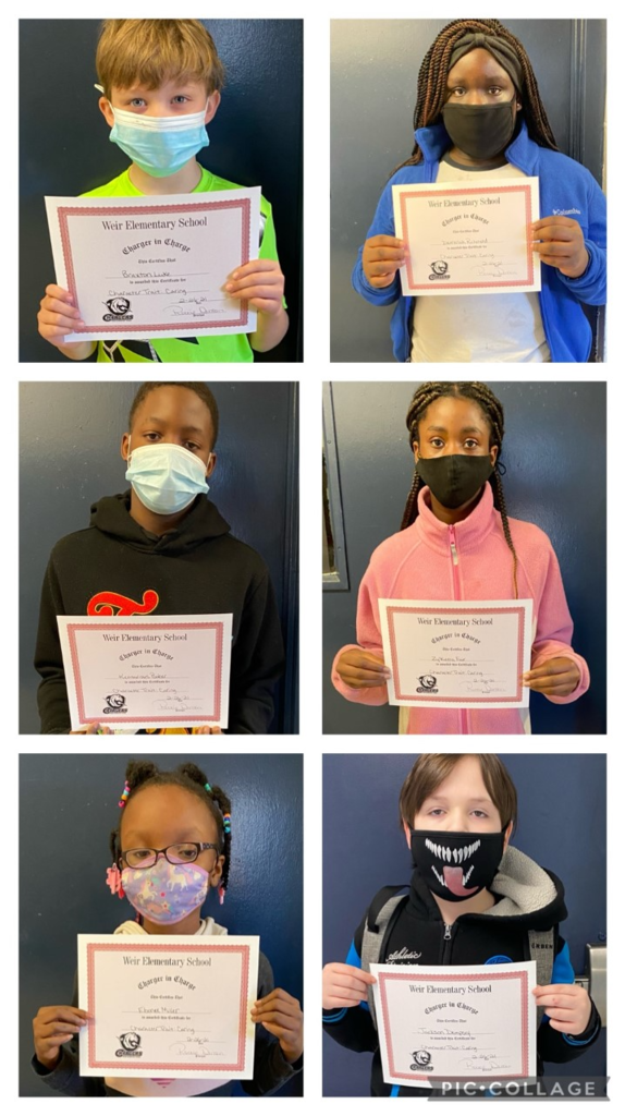 February Chargers In Charge     Character Trait: Caring