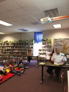 Weir Elementary School is celebrating reading this week. Sheriff Brandon Busby and Deputy Gabrielle Hernandez spent some time at WES Thursday morning introducing themselves and reading to our pre-K, kindergarten, and sixth-grade classes. We appreciate them taking time out of their busy schedules to visit with us during this special week at WES.