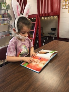 Kindergarten students at WES were excited to pick books and get to sit at the tables to read like the big kids do. We are so proud of their progress in reading skills!