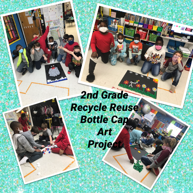 WES 2nd Grade Create Recycled Art