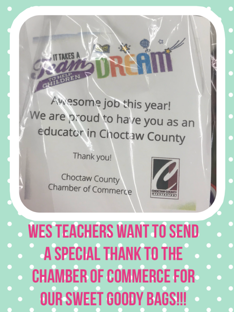 Chamber of Commerce Goody Bag for teacher Appreciation