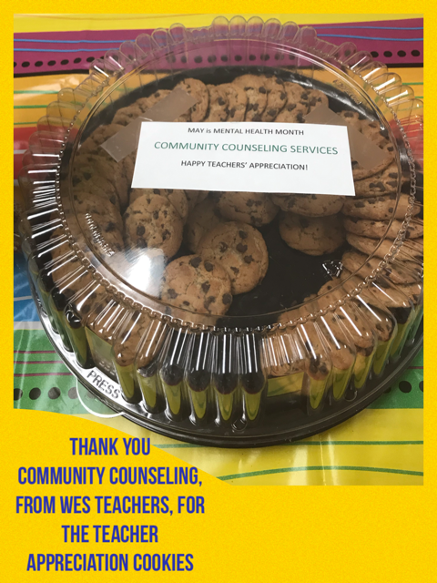 WES Teacher Appreciation _ CC donated Cookies