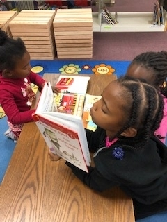 WES students reading