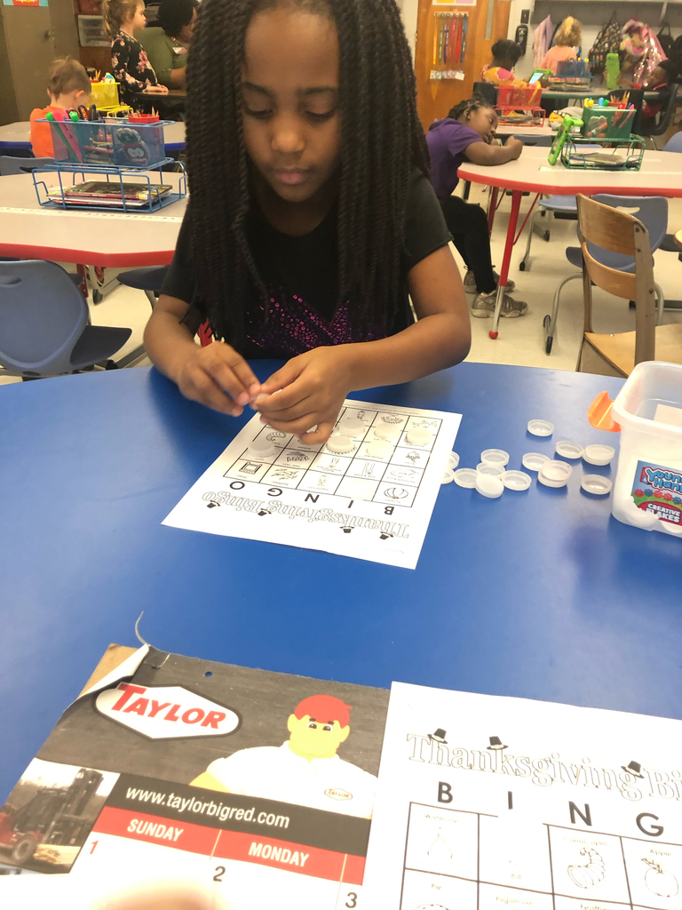 Wes student playing bingo