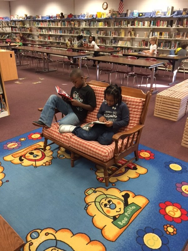 The Weir Elementary School Library is a wonderful place to just sit and enjoy a good book!
