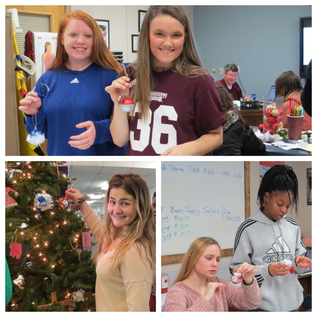 CCCTC sports medicine students with their ornaments