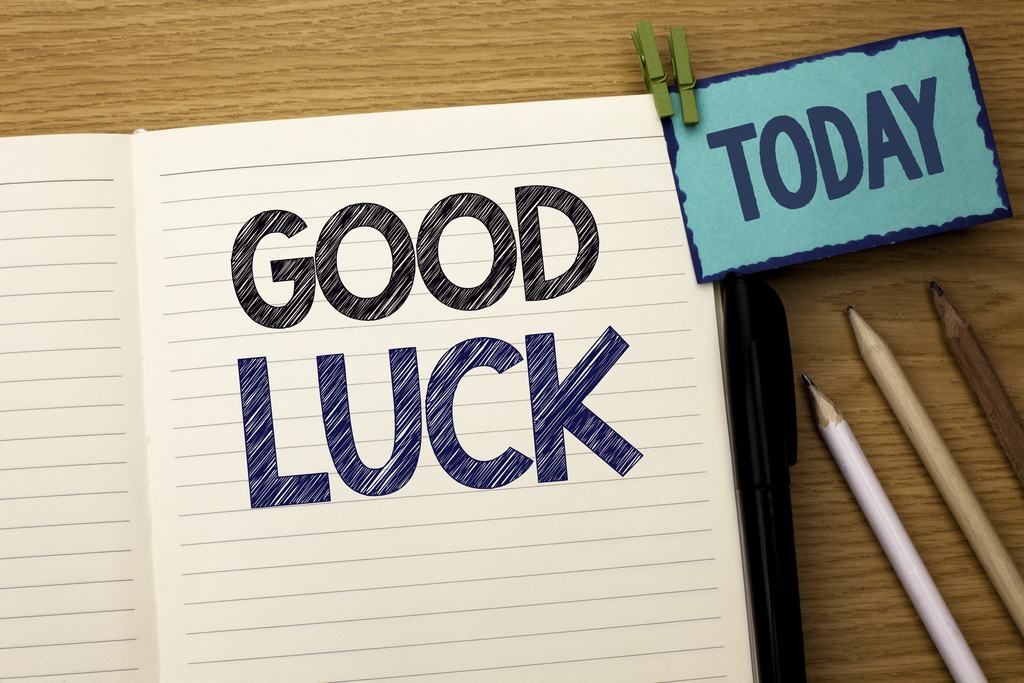 Good luck today image!