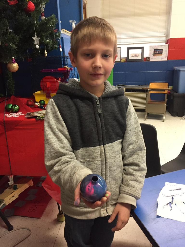 Wes student with ornament