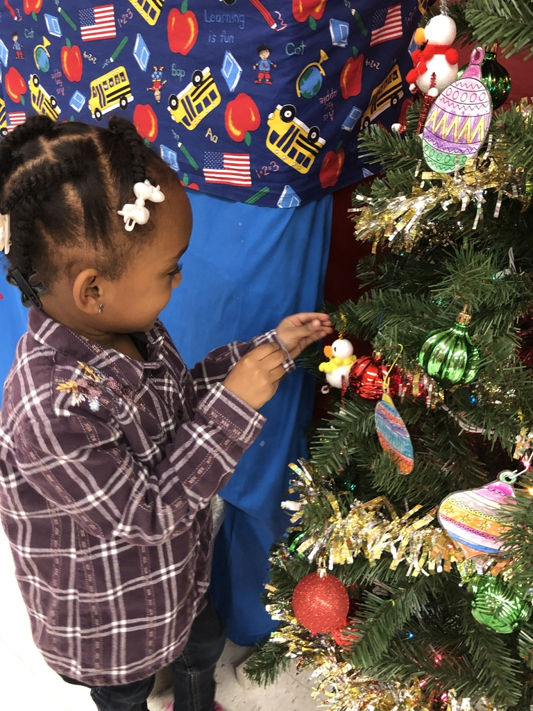 Wes student adding ornaments to a tree