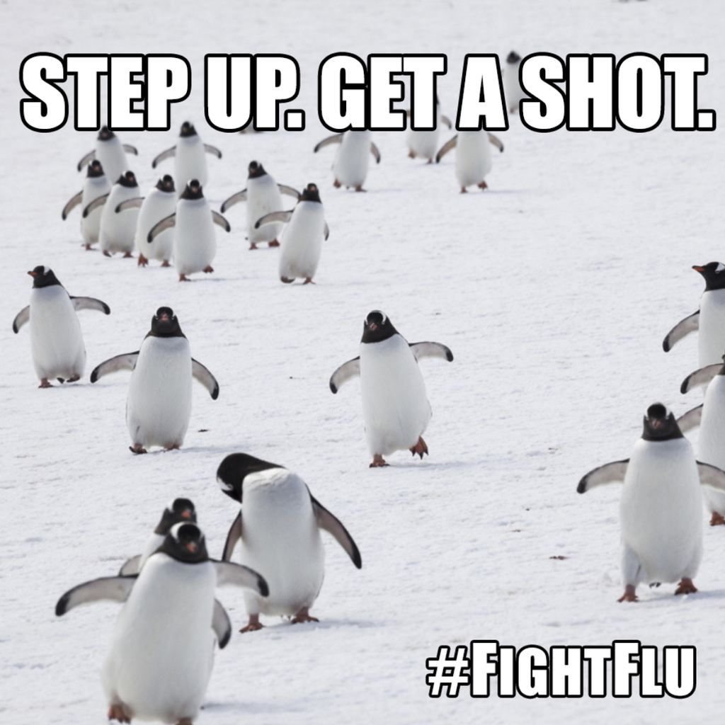 Step up and get flu shot.