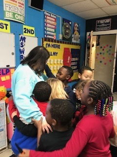 1st Graders tell Mrs. Talley they love her!