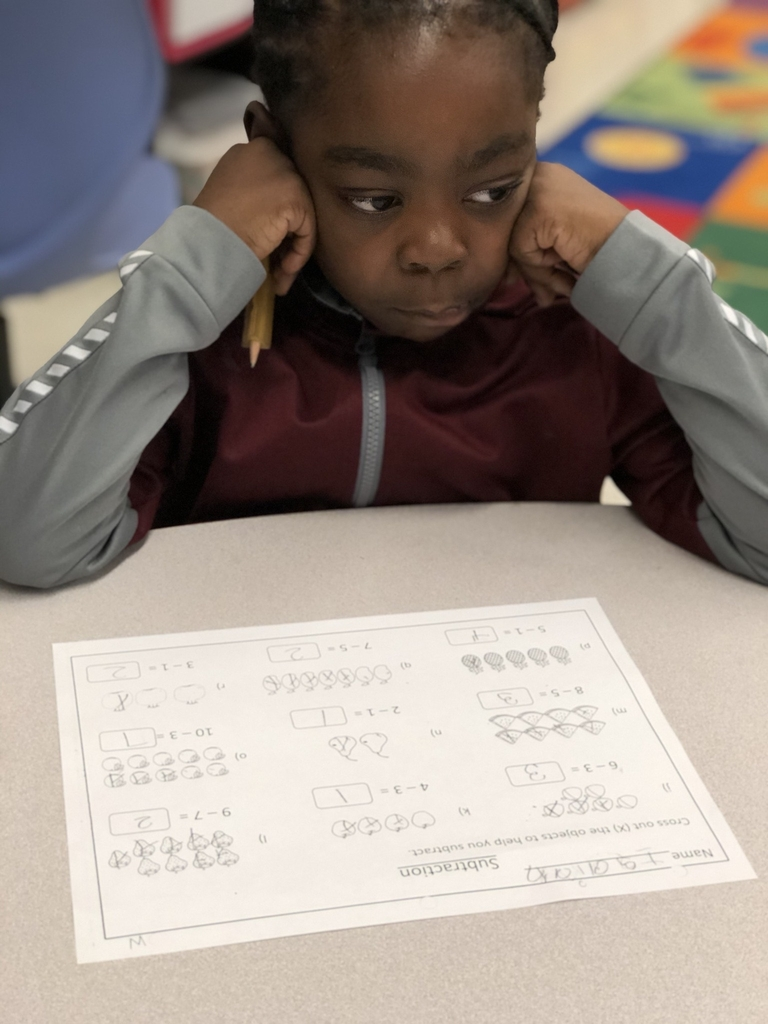 Student working math