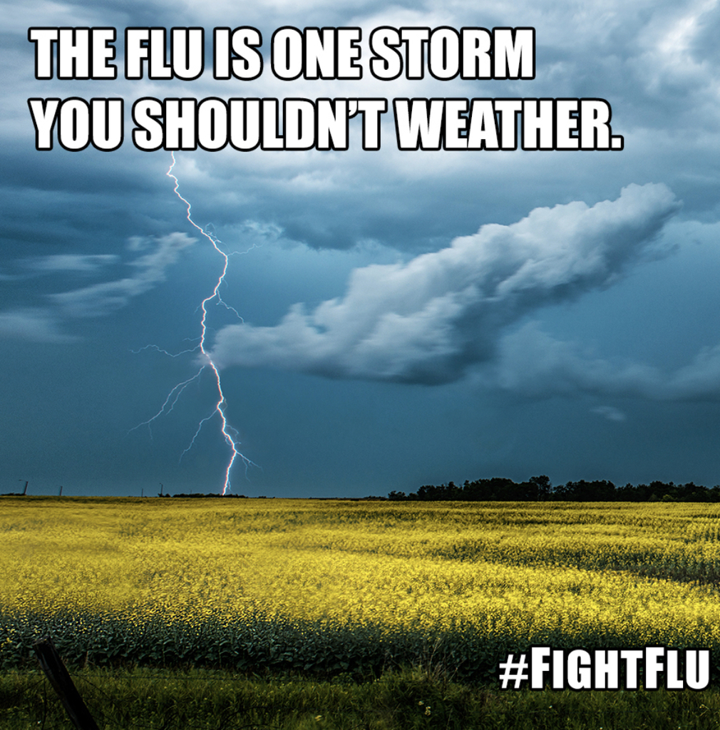 Flu season storm picture.
