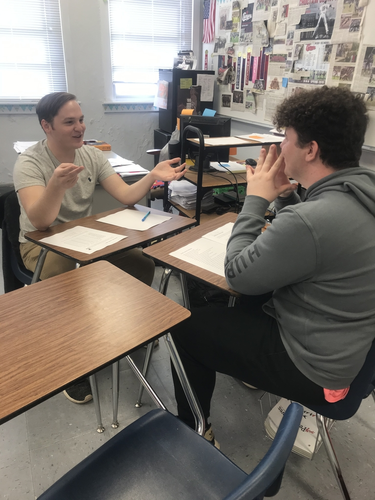 Students conduct mock job interview