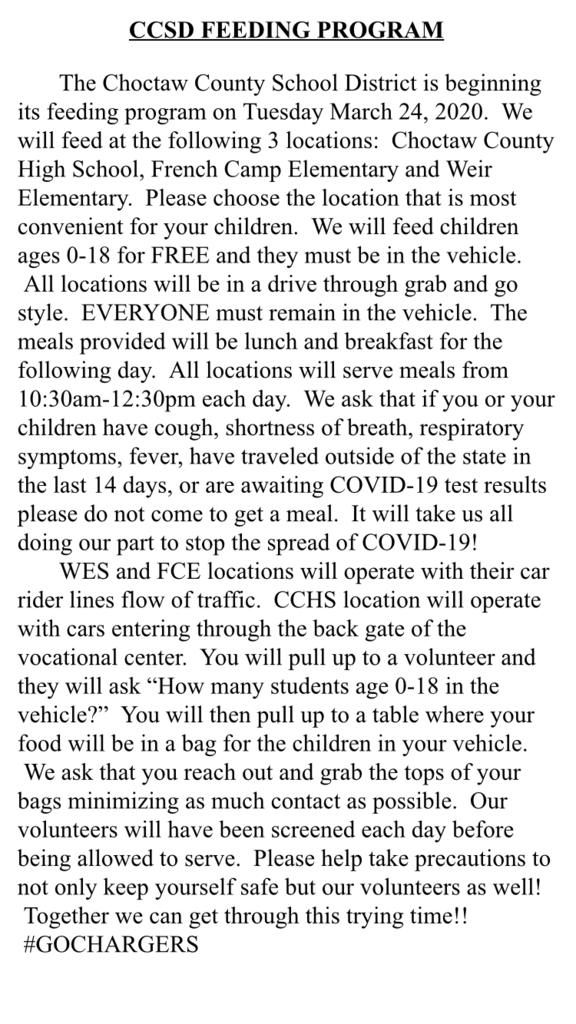 Feeding program instructions!