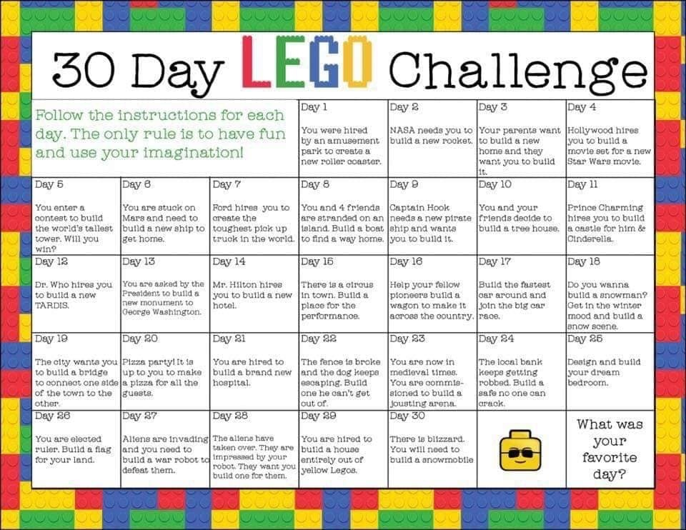 LEGO Challenges Have Fun!