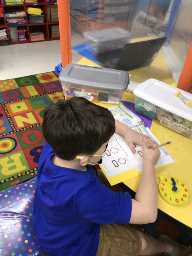Working on Telling Time